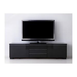 Near new BESTÅ BURS TV bench/unit, high-gloss Black Rhodes Canada Bay Area Preview