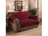 Wine Two Seater Water Repellent Furniture Protector for Sofa/Settee