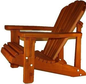 Amish Handcrafted Heavy Duty Cedar Adirondack Muskoka Patio Chairs - FREE SHIPPING