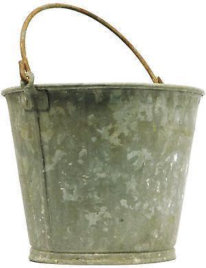 Vintage metal bucket ebay for Old metal buckets