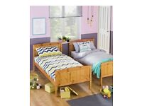Two single Solid Wood beds