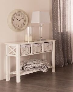 Console table with Baskets