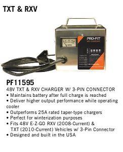 EZGO 48V Charger RXV, TXT Golf Cart, Pro-Fit