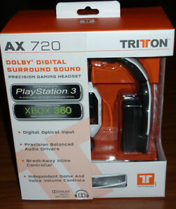 NEW-IN-BOX-Tritton-AX-720-5-1-Dolby-Digital-Surround-Sound-Gaming-Headset