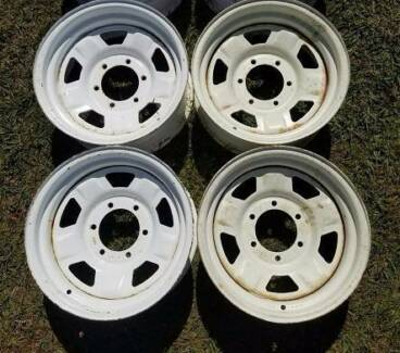 "15"" 4X4 RIMS SUNRAYSIA SET OF 4 WHEELS 15x7  4WD NEG - 10MM"
