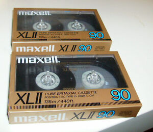 Maxell XL-II 90 High-bias (CrO2/ Type II) Sealed Blank cassette tapes (NOS)
