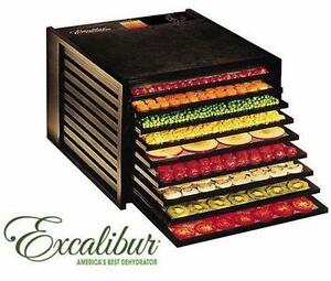 NEW EXCALIBUR FOOD DEHYDRATOR   9-tray dehydrator, 15 square feet of drying space - BLACK - KITCHEN APPLIANCE  84768949