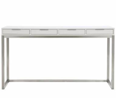 freedom   Signature 4 Drawer Console in White Lansvale Liverpool Area Preview