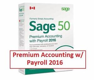 NEW SAGE 50 ACCCOUNTING SOFTWARE   Sage 50 Premium Accounting with Payroll 2016 - COMPUTER WINDOWS PC SOFTWARE 98739786
