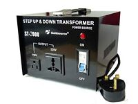 ST-2000 Voltage converter, (110v to 240v) Sale Price ONLY £80……(Normal RRP £150)