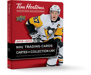Tim Horton's 2018/19 Hockey Cards (TLT Crosby and TLT Ovechkin)
