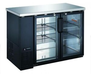 BRAND NEW Omcan 2 glass door bar cooler