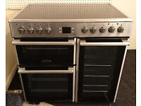 *44 stainless steel leisure 90cm double oven ceramic electric cooker comes with warranty can be del