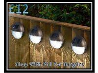 Set of 4 Solar Garden Fence Lights