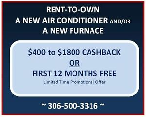 $0 DOWN | NEW AIR CONDITIONER / FURNACE RENTAL PROGRAM
