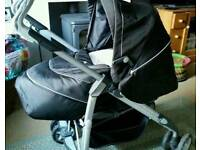 silvercross with carrycot and car seat and bag