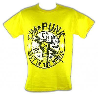 CM Punk GTS Best In The World Yellow WWE Kids T-shirt (Best Kid In The World)
