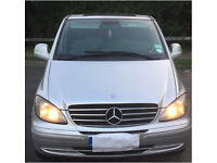 9seater Mercedes Vito Travelliner XLWB Manual in silver (2005)