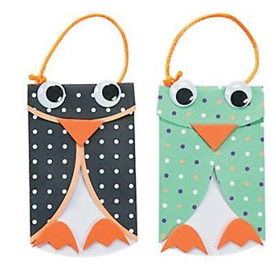 2 Cool Owl Cupcake Ornament Paper Kits Wiggle eyes New Craft Kits - Owl Cupcake Papers