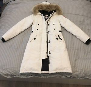 Women Canada Goose Kensington Parka Jacket White