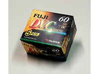5 Fuji Mini DV video tapes. NEW. 60 min. duration