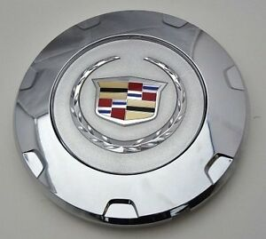 GENUINE FACTORY CHROME GM CADILLAC ESCALADE CENTER CAPS