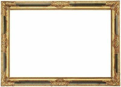 BILDERRAHMEN ca. 90x60 cm Innenmaß - HOLZ BAROCK GOLD aufwendige VERZIERUNGEN
