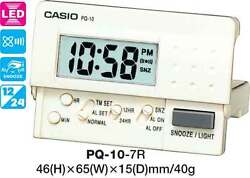 CASIO CLOCK PQ-10-7R PQ10 ALARM LED LIGHT 12 MONTH WARRANTY