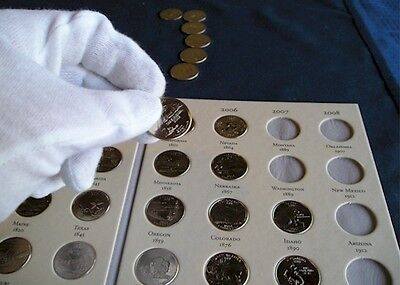 Best! 50 State Quarter Album Coin Collector Folder Book USA Quarters Book!