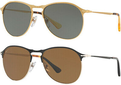 Persol Polarized Men's Modified Aviator Sunglasses - PO7649S - Made In (Persol Polarized)