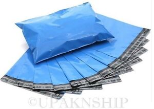 100 12x15.5 BLUE Poly Mailers Shipping Envelope Couture Boutique Shipping  Bags