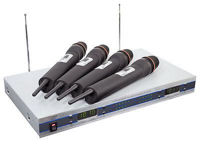 New Pyle PDWM5500 4 Mic VHF Wireless Microphone System