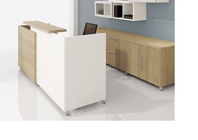 Quad 72 Modern Receptionreceptionist Office Desk Shell With Transaction Shelf