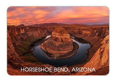 Arizona Horseshoe Bend Travel Souvenir Photo Fridge Magnet 3 5 X2 4