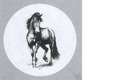 Reserveradhülle Radhülle Friesenpferd Pferd Reitsport Ersatzradabdeckung Rad