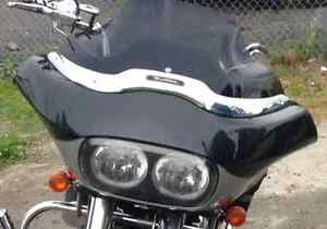 "Harley Davidson Road Glide 12"" Dark Smoke Windshield ""Mint"""