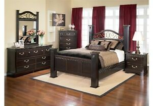 6 Piece Bedroom set, includes mattress and Boxspring