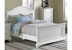 The Brick Double/Full Size Bedframe - Brook Off-White