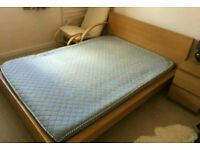 Ikea double bed with mattress , can deliver