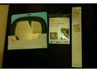 BRAND NEW Mothercare in-sight mirror, seat belt adjuster & retractable car blinds