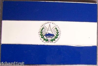 Pewter Belt Buckle National Flag of El Salvador (Flag Pewter Belt Buckle)