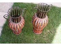 Two decorative indoor vases