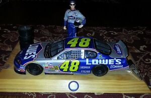 Jimmy Johnson with his Lowe's race car