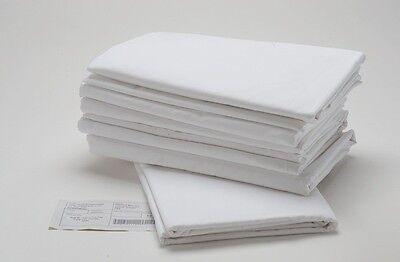 24 Bright White Hotel Grade Pillowcase Standard Size Cvc ...