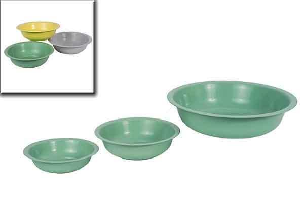 Schale Wasserschale Metall grün 52 cm (921767) Dekoschale Gartendeko