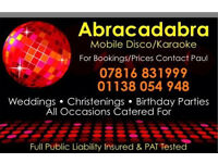 Mobile disco/ or disco with female vocalist package.