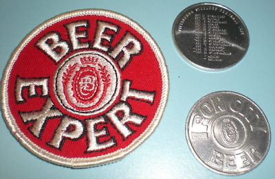 IRON CITY BEER EXPERT PATCH & STEELERS 1975 COIN
