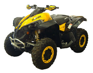 CAN-AM-RENEGADE-ATV-OVER-FENDERS-FLARES-WIDE-MUD-GUARDS-CUSTOM-FIT-CANAM-BRP