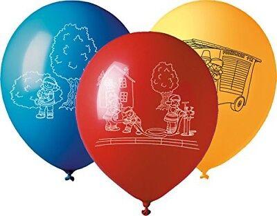 5 große Luftballons * FEUERWEHR * für Mottoparty und Kindergeburtstag Neu & OVP ()