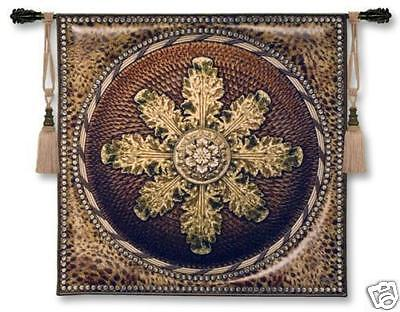 Leopard with Rosette Ornamental Tapestry Wall Hanging Leopard Rosette